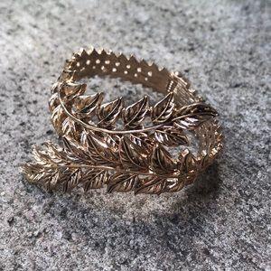 Gold Leaf bracelet wrap around adjustable